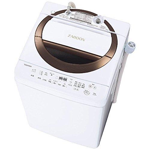 東芝 DDインバーター洗濯機 全自動 ZABOON 6kg ブラウン AW-6D6 T