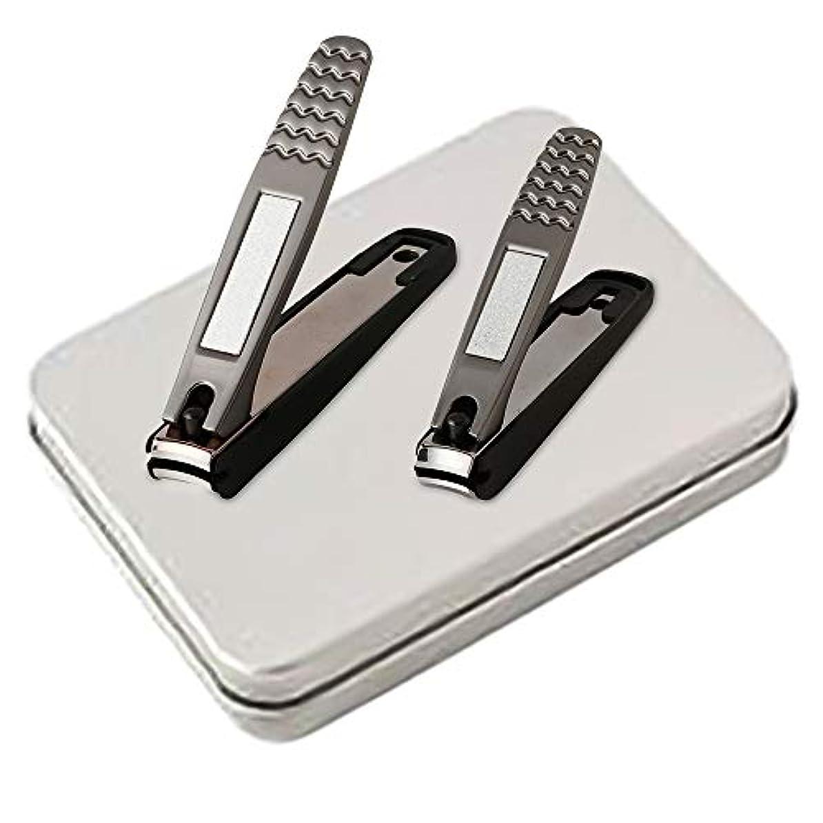 に対応立ち向かう食用爪切り Sokaiwheel ステンレス製 高級 爪切り 飛び散り防止 収納ケース付き 手足用 2本セット