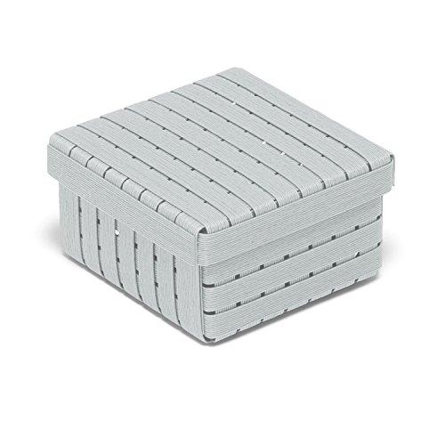 Bandc Box J4 color 05 ライトグレー 正方形 フタ付き 収納 ペーパーコード ボックス 日本製 箱