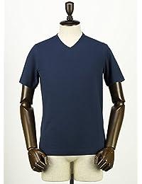 ZANONE ザノーネ メンズ アイスコットン VネックTシャツ T-SHIRT V 810237 Z0380 Z0178 (ネイビー)