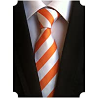 MINDENG Men's Striped Classic Woven Jacquard Silk Business Leisure Tie