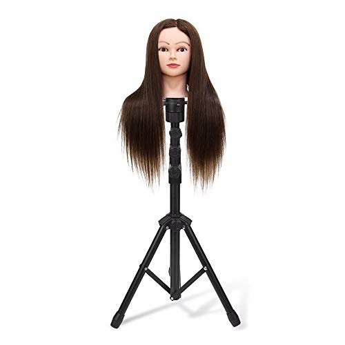 Tripod Wig Stand, Adjustable Mannequin Head Stand Heavy Duty Wig Head Stand for Professional Hairdressing Cosmetology Training