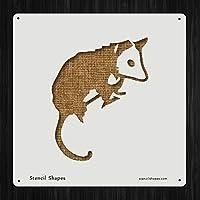 Opossum動物Creature Fauna Mammalスタイル14541DIYプラスチックステンシルアクリルMylar再利用可能な