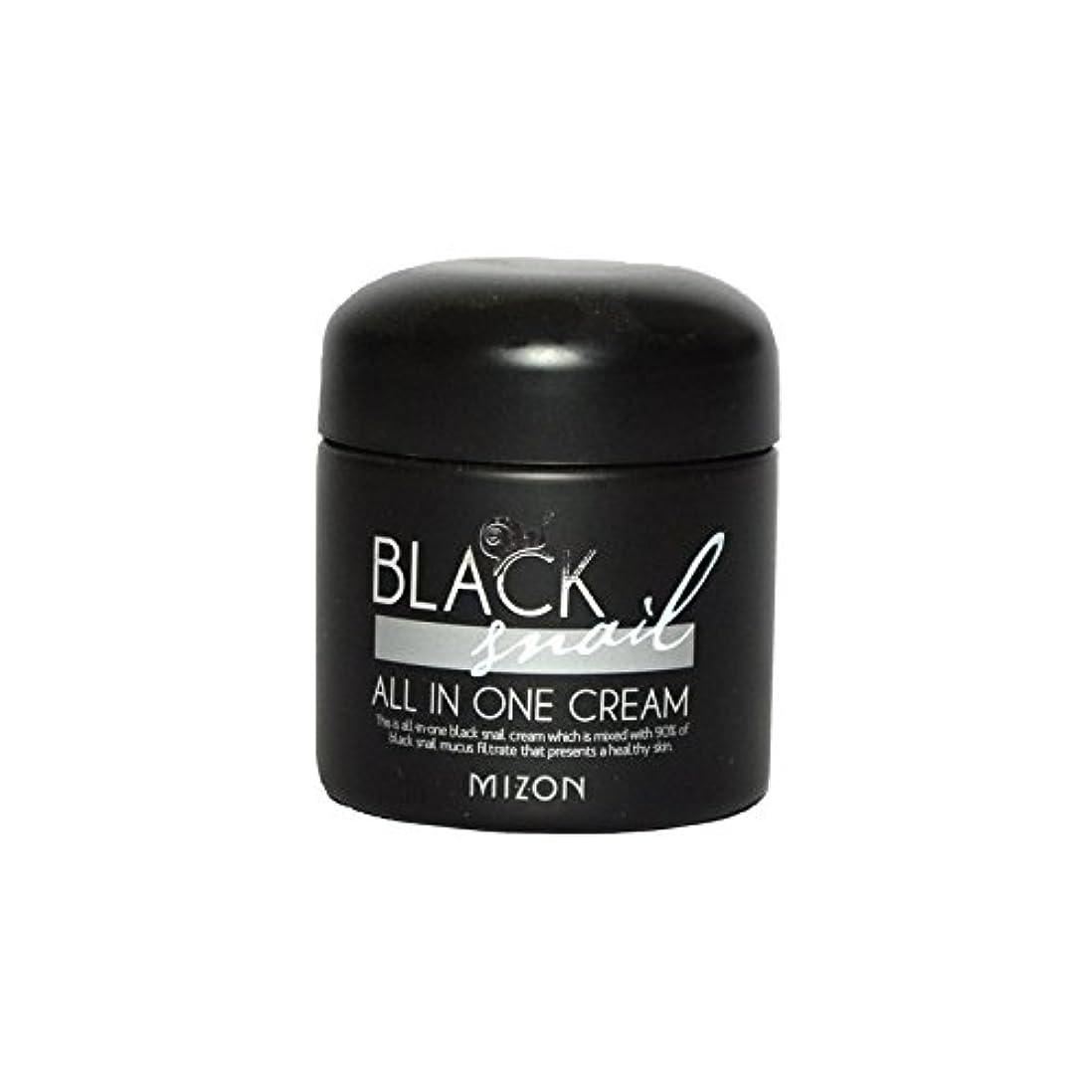 慈善土コミットメントMizon Black Snail All in One Cream - 黒カタツムリオールインワンクリーム [並行輸入品]