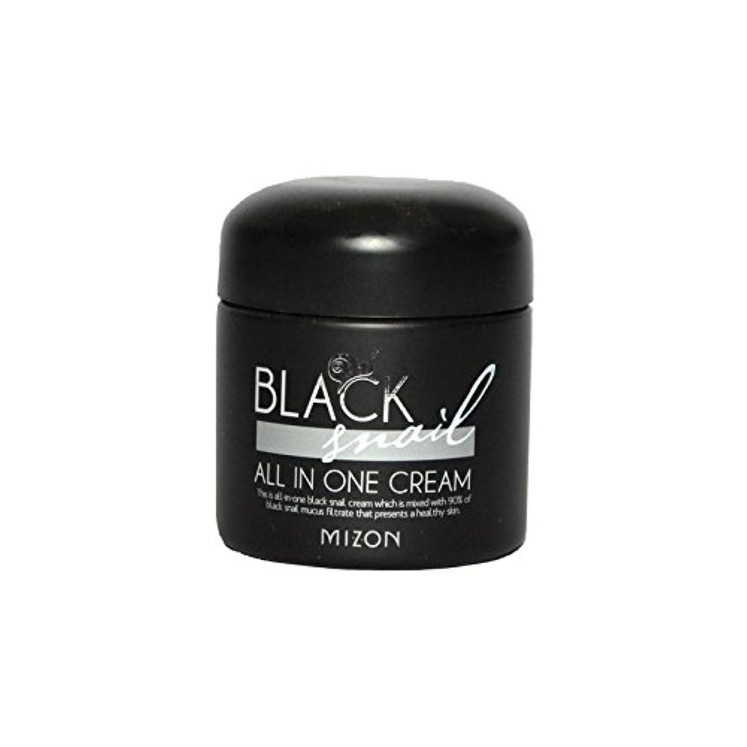 トロリーバス媒染剤飛躍Mizon Black Snail All in One Cream - 黒カタツムリオールインワンクリーム [並行輸入品]