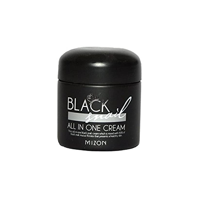 最終海港油Mizon Black Snail All in One Cream - 黒カタツムリオールインワンクリーム [並行輸入品]