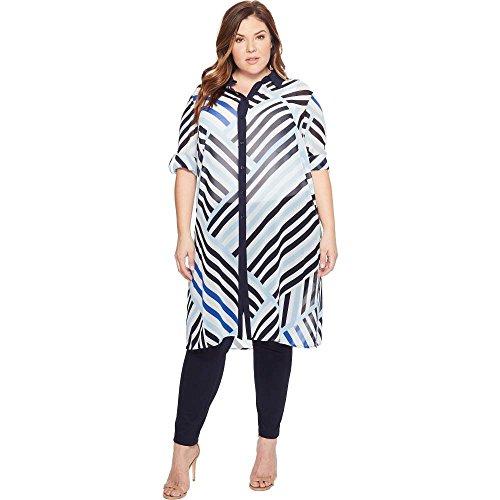 (カルバンクライン) Calvin Klein Plus レディース ワンピース・ドレス ワンピース Plus Size Long Printed...
