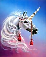 MythicalユニコーンYoung Princeファンタジー壁装飾アートプリント写真8x 10