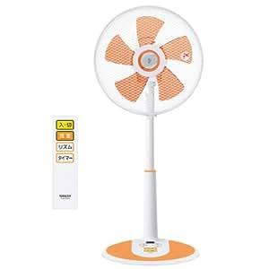 山善(YAMAZEN) 30cmリビング扇風機(リモコン)タイマー付 クリアオレンジ YLR-D304(CD)