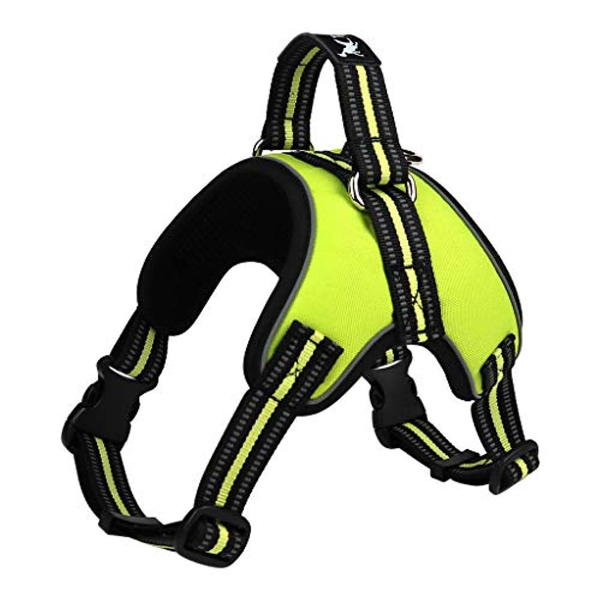 アクセント願望協力する反射性ハーネス チェストストラップ ペット 犬用 ハーネス 全5サイズ - L