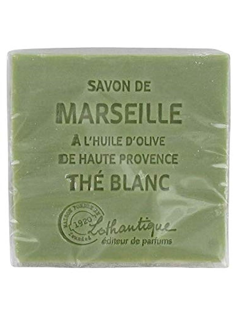 平行偽善設置Lothantique(ロタンティック) Les savons de Marseille(マルセイユソープ) マルセイユソープ 100g 「ホワイトティー」 3420070038036