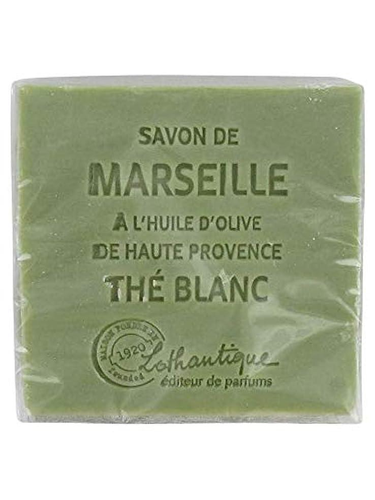 横たわるスカーフ人Lothantique(ロタンティック) Les savons de Marseille(マルセイユソープ) マルセイユソープ 100g 「ホワイトティー」 3420070038036