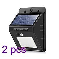 Vingtank センサーライト ソーラーライト 20 LED 屋外照明 玄関ライト 防犯 省エネ 太陽発電 ワイヤレス人感センサー (2個入れ)
