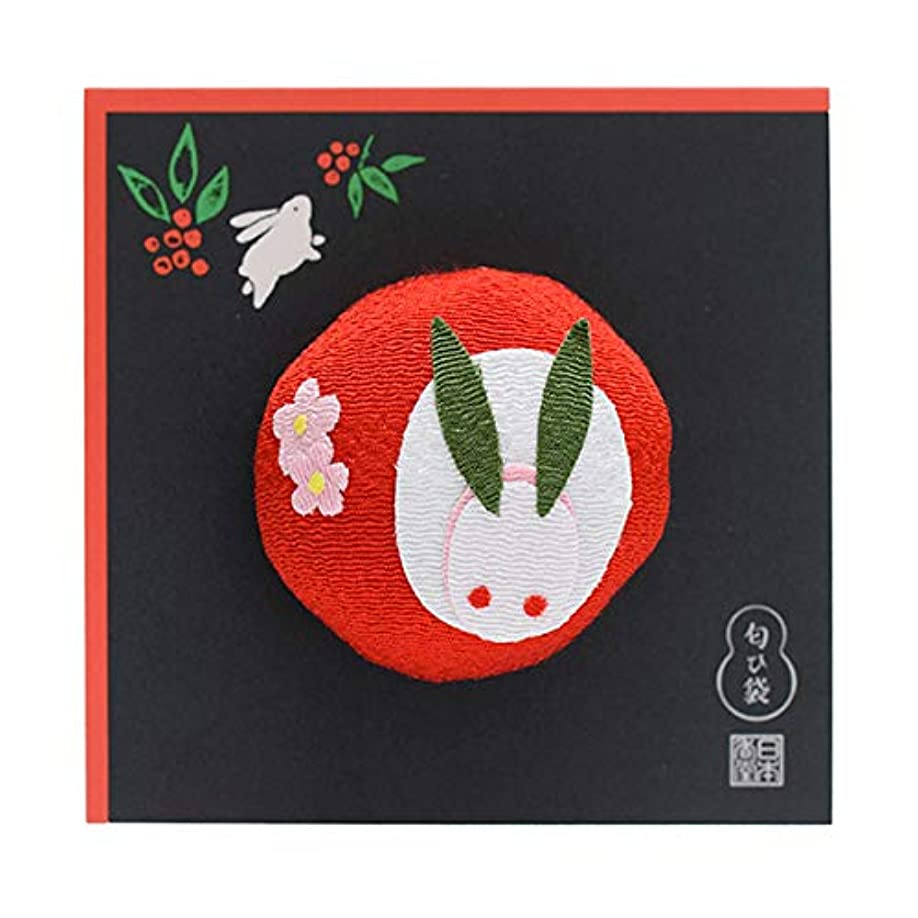 昆虫を見るつばより多い日本香堂 香風景 匂ひ袋 南天うさぎ