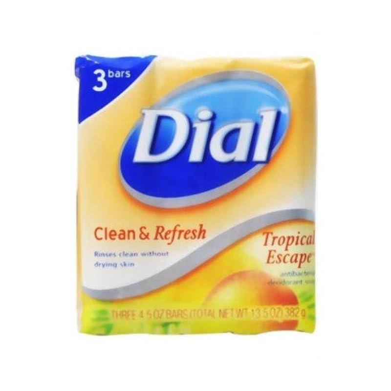 出口軽食申請中【DIAL】ダイアル デオドラント石鹸 トロピカルエスケープ 3個パック