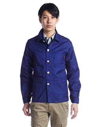 Cotton Work Jacket 1225-414-6226: Cobalt