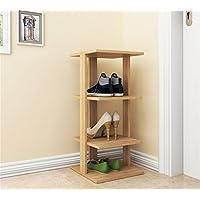 TLMY 家庭用多機能経済的な靴の木製ミニマリストモダンな収納ラック 靴箱 (色 : Light walnut)