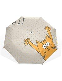 AOMOKI 折り畳み傘 折りたたみ傘 日傘 手開き 三つ折り 晴雨兼用 梅雨対策 UVカット 耐強風 8本骨 男女兼用 おもしろい 猫柄
