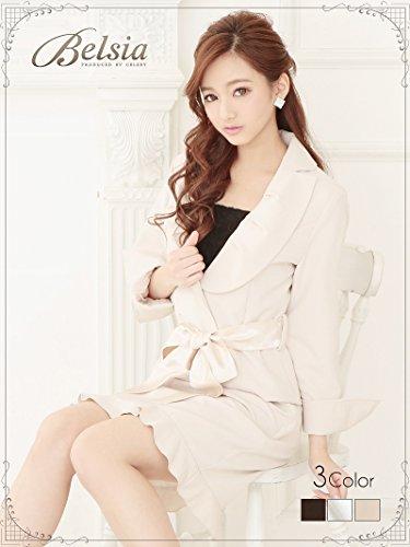 [해외]Belsia 여성 새틴 리본있는 볼륨 색상 칠부 소매 캐 정장 | 식 정장~ 캐 정장에도 베루시아 (M | L) (블랙 | 화이트 | 베이지) * 500745/Belsia feminine satin with ribbon volume color three-quarter sleeve cap suit | Versia (M | L) (black | ...