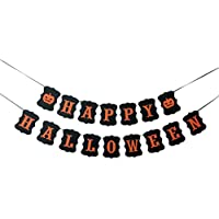 BESTOYARD 3m ハロウィン バナー Happy Halloween カボチャのサイン パーティー用品 ガーランド 部屋 飾り付け おしゃれ