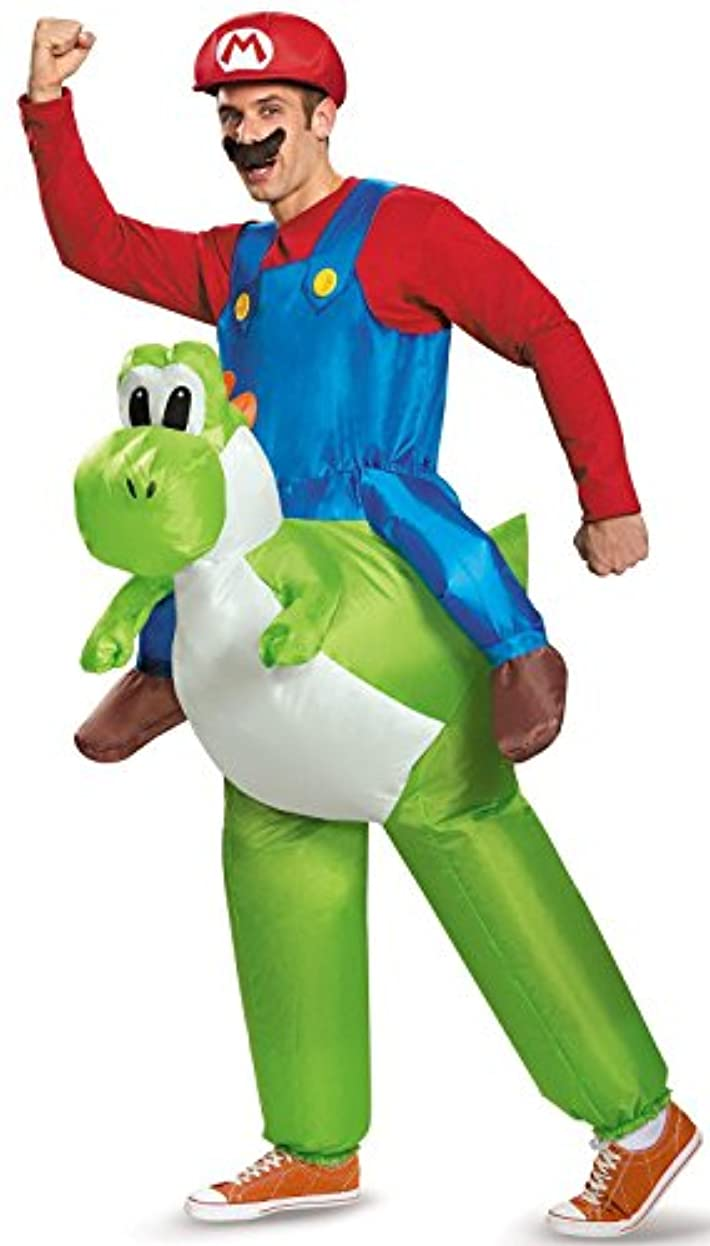 属するオートマトン罰するスーパーマリオ ヨッシー ライディング 大人用 インフレータブル セット Super Mario Bros: Mario Riding Yoshi Inflatable Adult Costume [並行輸入品]