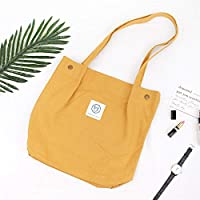 Has Many Uses Large Capacity Crossbody Canvas Handbag Shoulder Shopping Bag Yellow