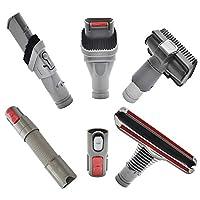 EZ SPARES 6個 掃除機ダイソン Dyson V7 V8 V10 フトンツール Mattress tool 延長ホース キットマルチ 機種適合Dyson エッジブラシ すきまノズル (ダイソン)