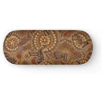Australian Dreamtime - Protective Eyewear Case in Authentic Aboriginal Artwork