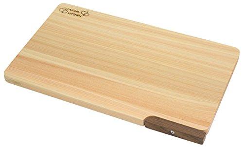 食器洗い乾燥機対応 ひのきまな板 【スタンド付き】 30cm