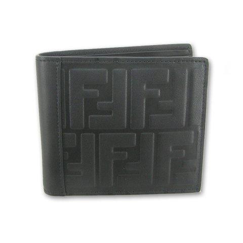 フェンディ FENDI メンズ 折財布 サイフ 7M0169 A18A F0SAJ ブラック 18ss (ブラック) [並行輸入品]