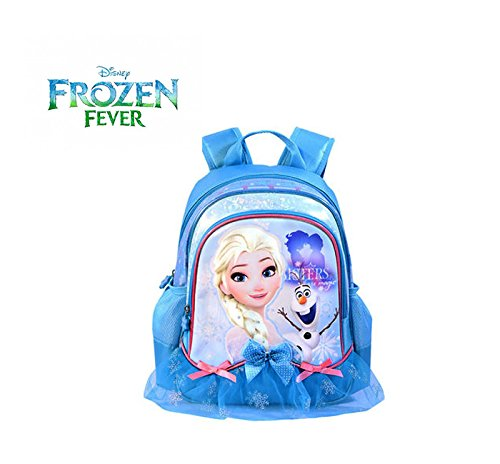 Disney(ディズニー)アナと雪の女王 エルサ オラフ レース&リボンが可愛い リュックサック キッズリュック 子供用リュック 幼児~小学校低学年向け [並行輸入品]