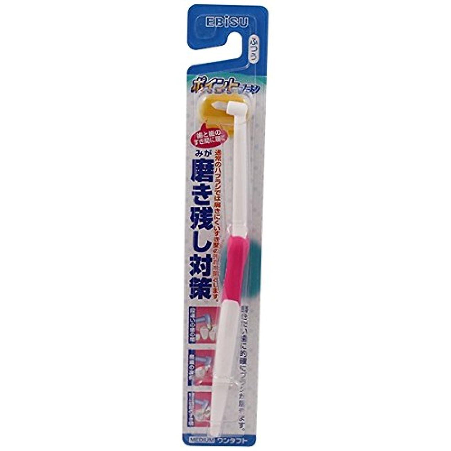 払い戻し不良品規則性エビス ポイントブラシ ふつう 1本 (歯垢対策歯ブラシ) ペングリップラバー ×120点セット (4901221020401)