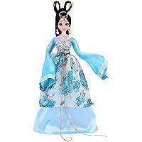 Lovoski  かわいい 柔軟 ジョイント  ビニール ボディー 人形  中国古代スタイル  コスチューム ドール 玩具 ギフト 全2色  - ブルー