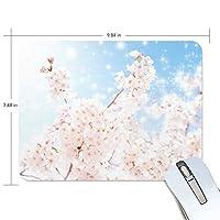 マウスパッド かわいい 桜 ピンク グラデーション 夜 月 咲く舞う 高級 ノート パソコン マウス パッド 柔らかい ゲーミング よく 滑る 便利 静音 携帯 手首 楽