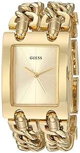 Guess Women 's QuartzステンレススチールCasual Watch, Color : gold-toned (モデル: u1117l2)