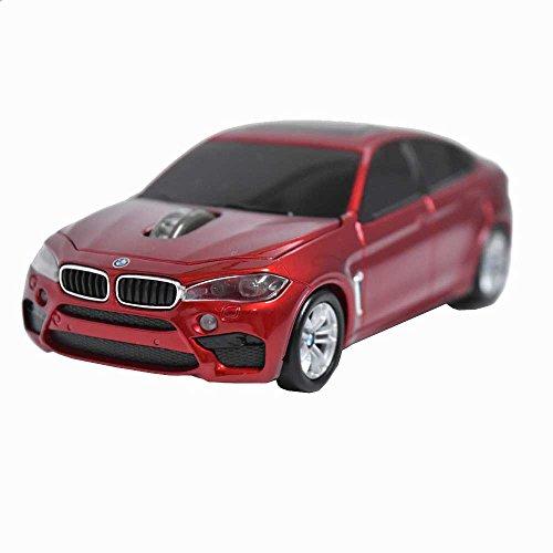 BMW X6 M SUV BM-X6M-RE (レッド) 無線カーマウス 2.4Ghz max1750dpi