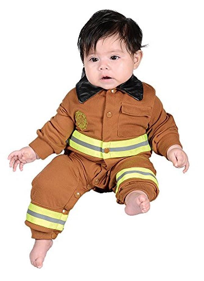 石灰岩ロデオペンスJr. Fire Fighter Suit Tan Infant Costume ジュニアファイアファイタースーツタン幼児コスチューム サイズ:6 to 12 Months