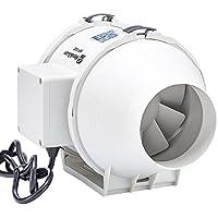 (ホン&ガーン)Hon&Guan ダクト用換気扇 産業用排風機 中間取付 ダクトファン 丸形タイプ (HF-100P/φ100mm対応)