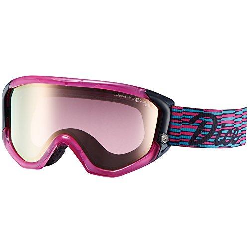 【国産ブランド】DICE(ダイス) スキー スノーボード ゴーグル ジョーカーシリーズ JKE1631040 JOKER-pM/PIPBRc GLPIN グロスピンク/パステルブラウンミラー×偏光ピンクレンズ