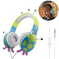 VCOMキッズヘッドフォン、耳の上に調整可能な男の子女の子イヤホン音楽子供幼児スクールベビーヘッドセット(数量限定)、マイク(iPad用)ラップトップタブレットスマートフォン