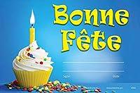 フランス語Bonne Fete Award (パックof 36) French Happy誕生日