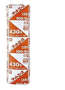 旭ファイバーグラス マットエース マットエース密度10K 厚さ100ミリ×幅430ミリ×長さ2740ミリ 14枚入