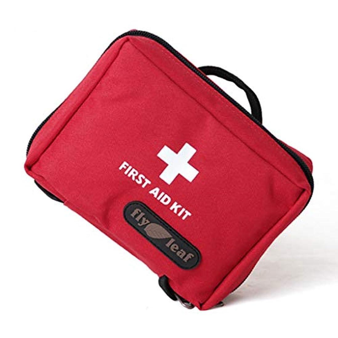 宿船上尽きるFirst aid kit 空のバッグ応急処置キット旅行緊急サバイバルポーチ医療収納袋ナイロンサバイバルパッケージ/黒、赤 XBCDP (Color : Red)