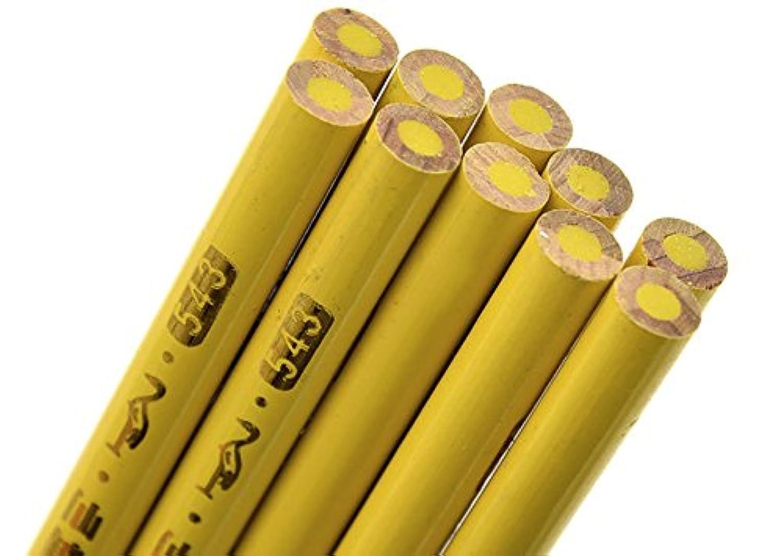 10個入りイエロー鉛筆マーキングツール裁縫パターンキットファブリックProfessional Tailor dp065