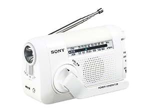 SONY FM/AMポータブルラジオ ICF-B08/W ホワイト