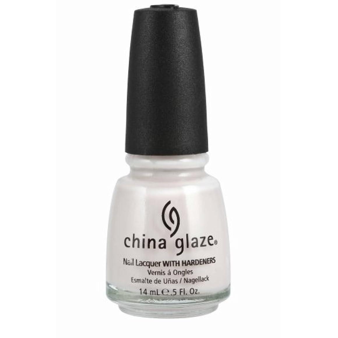 荒れ地モディッシュけん引CHINA GLAZE Nail Lacquer with Nail Hardner - Oxygen (並行輸入品)