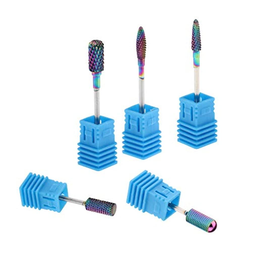 ロビーブロックするナットT TOOYFUL 陶磁器ドリルビット ネイルマシンビット 研削ネイル ネイルドリルビット ネイルマシーン用ビット 5個入