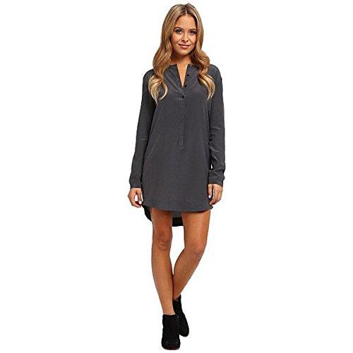 (オルタナティヴ) Alternative レディース ドレス パーティドレス L/S Silk Crepe Henley Dress 並行輸入品