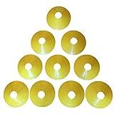 Zakur マーカーコーン カラーコーン 割れにくい サッカー フットサル 用品 (イエロー, 10枚)