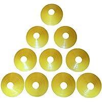 Zakur マーカーコーン カラーコーン 割れにくい サッカー フットサル 用品 5色 10枚-50枚セット